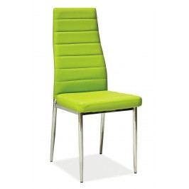 Jídelní židle - Signal - H-261 (ekokůže zelená)