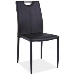 Jídelní židle - Signal - H-322 (ekokůže černá)