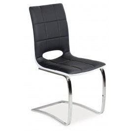 Jídelní židle - Signal - H-431 (ekokůže černá + bílá)