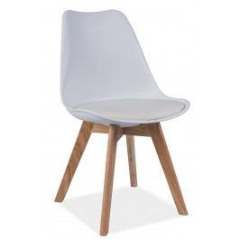 Barová židle - Signal - Kris (bílá + dub)