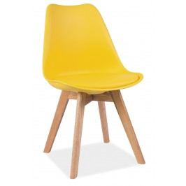 Barová židle - Signal - Kris (žlutá + dub)