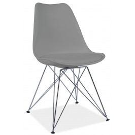 Barová židle - Signal - Tim (šedá + chróm)