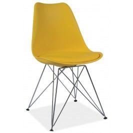 Barová židle - Signal - Tim (žlutá + chróm)