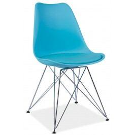 Barová židle - Signal - Tim (modrá + chróm)