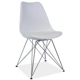 Barová židle - Signal - Tim (bíla + chróm)