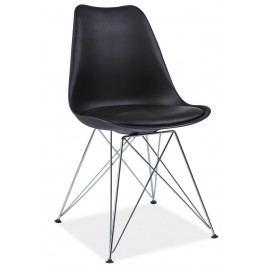 Barová židle - Signal - Tim (černá + chróm)