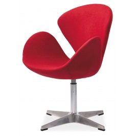 Relaxační křeslo - Signal - Devon (ekokůže červená)