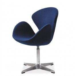 Relaxační křeslo - Signal - Devon (ekokůže modrá)