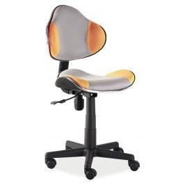 Kancelářské křeslo - Signal - Q-G2 (oranžová + šedá)
