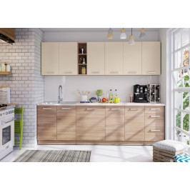 Kuchyň Holly 260 cm (písková)
