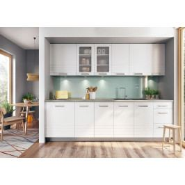 Kuchyň Paulita 260 cm (matná biela)