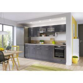 Kuchyň Diamant 240 cm (antracit)