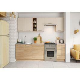Kuchyň Holly 240 cm (písková)