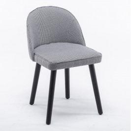 Jídelní židle Lalima (černo-bílý vzor)