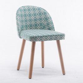 Jídelní židle Lalima (zelený vzor)
