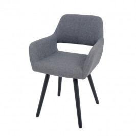 Jídelní židle Godric (tmavě šedá)