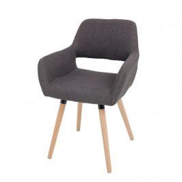 Jídelní židle Godric (tmavohnědá)