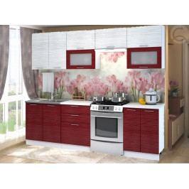 Kuchyně 260 cm Valeria (červená)
