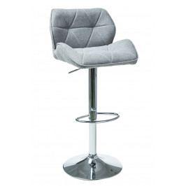 Barová židle C-122 (světle šedá)