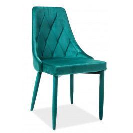 Jídelní židle Trix Velvet (zelená)