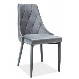 Jídelní židle Trix Velvet (šedá)