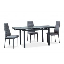 Jídelní stůl Turin (černá) (pro 4 až 6 osob)