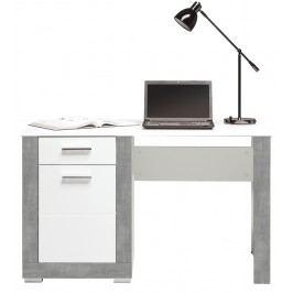 PC stolek - Bog Fran - Twin - TW 12 (šedá + bílá matná)
