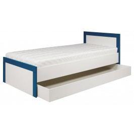 Jednolůžková postel 90 cm - Bog Fran - Twin - TW 13 (tyrkysová + bílá matná)