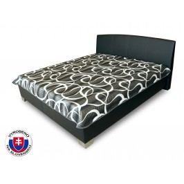 Manželská postel 180 cm - Benab - Tamira (černá) (s rošty a přehozem)