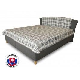 Manželská postel 180 cm - Benab - Tokio (s rošty, matracemi a přehozy)