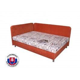 Manželská postel 140 cm - Benab - Hobby (s roštem, matrací a polštáři)