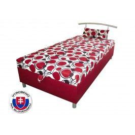 Jednolůžková postel (válenda) 120 cm - Benab - Elson 120 (s roštem, matracem a snímatelný polštářem)