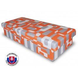 Jednolůžková postel (válenda) 80 cm - Benab - Solo oranžovošedá (s matrací)
