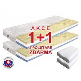Pěnová matrace - Benab - Visco Plus - 200x70 cm (T3/T4) *AKCE 1+1 + dva polštáře zdarma