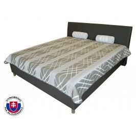 Manželská postel 180 cm - Benab - Mona Lucia šedá/Eko šedá (s rošty)