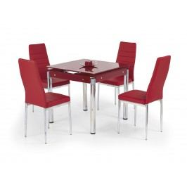 Jídelní stůl - - Kent červená (pro 4 osoby)