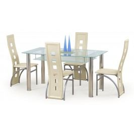 Jídelní stůl - - Cristal mléčná (pro 6 osob)