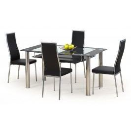 Jídelní stůl - - Cristal černá (pro 6 osob)