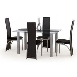 Jídelní stůl - - Talon černý pás (pro 6 osob)