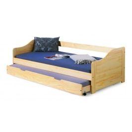 Jednolůžková postel 90 cm - - Laura (masiv, s roštem)