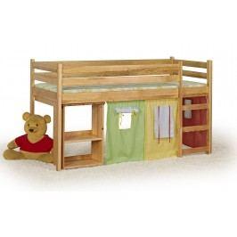 Patrová postel 80 cm - - Emi Olše (masiv, s roštem a matrací)