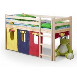 Patrová postel 80 cm - - Neo Borovice (masiv, s roštem a matrací)