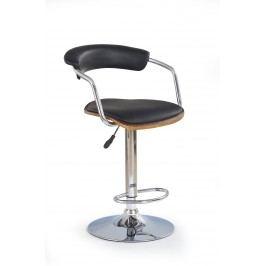 Barová židle - - H-19 Ořech + Černá