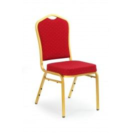 Jídelní židle - - K66 zlatá + bordó