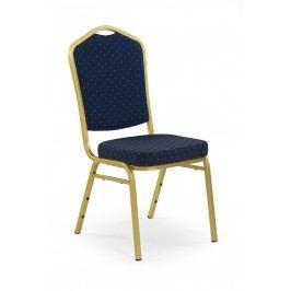 Jídelní židle - - K66 zlatá + modrá