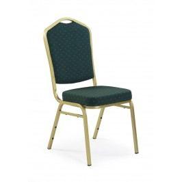 Jídelní židle - - K66 zlatá + zelená