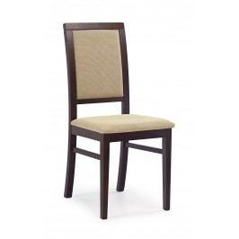 Jídelní židle - - Sylwek 1 Ořech tmavý + béž