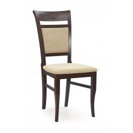 Jídelní židle - - Jakub Ořech tmavý + béžová