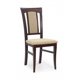 Jídelní židle - - Konrad Ořech tmavý + béžová