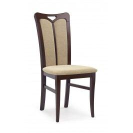 Jídelní židle - - Hubert 2 Ořech tmavý + béžová